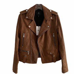 7 for all mankind Genuine Leather Biker Jacket   S